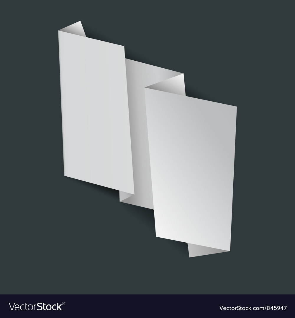 Abstract white origami banner vector image