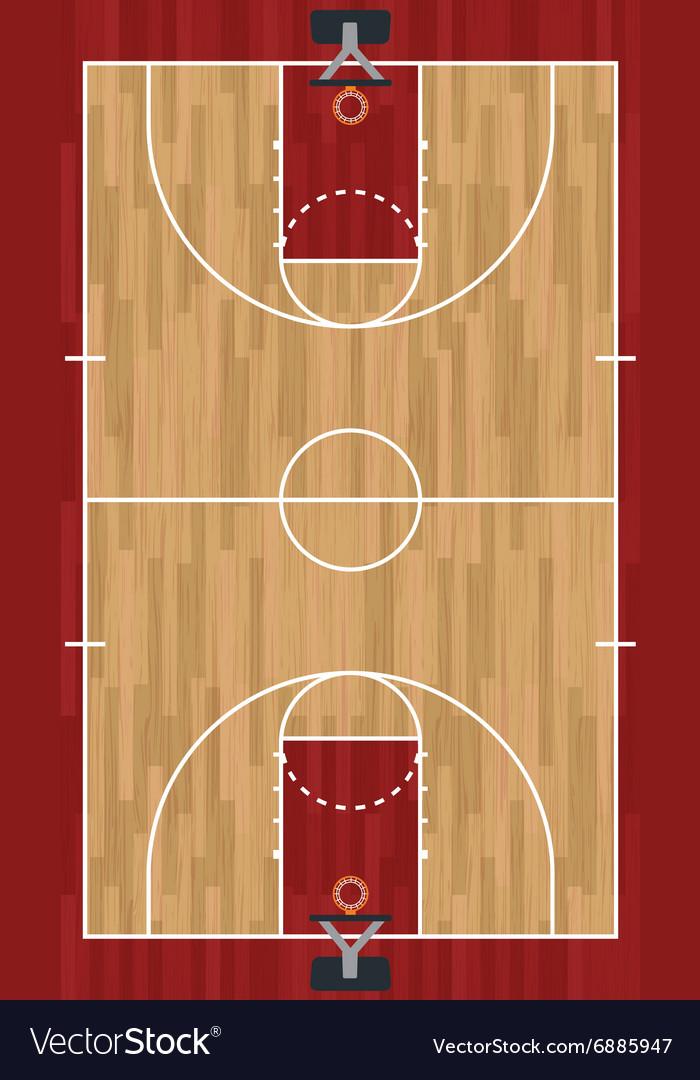 Basketball Court Royalty Free Vector Image - VectorStock