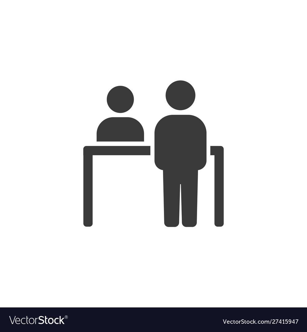 Customer icon customer at receptionist