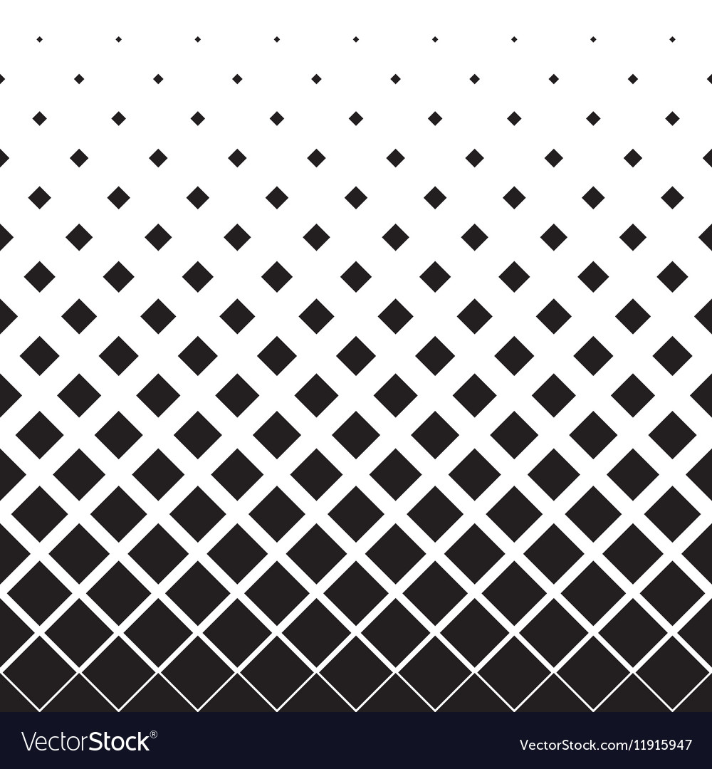 Halftone background pattern of squares in diagonal