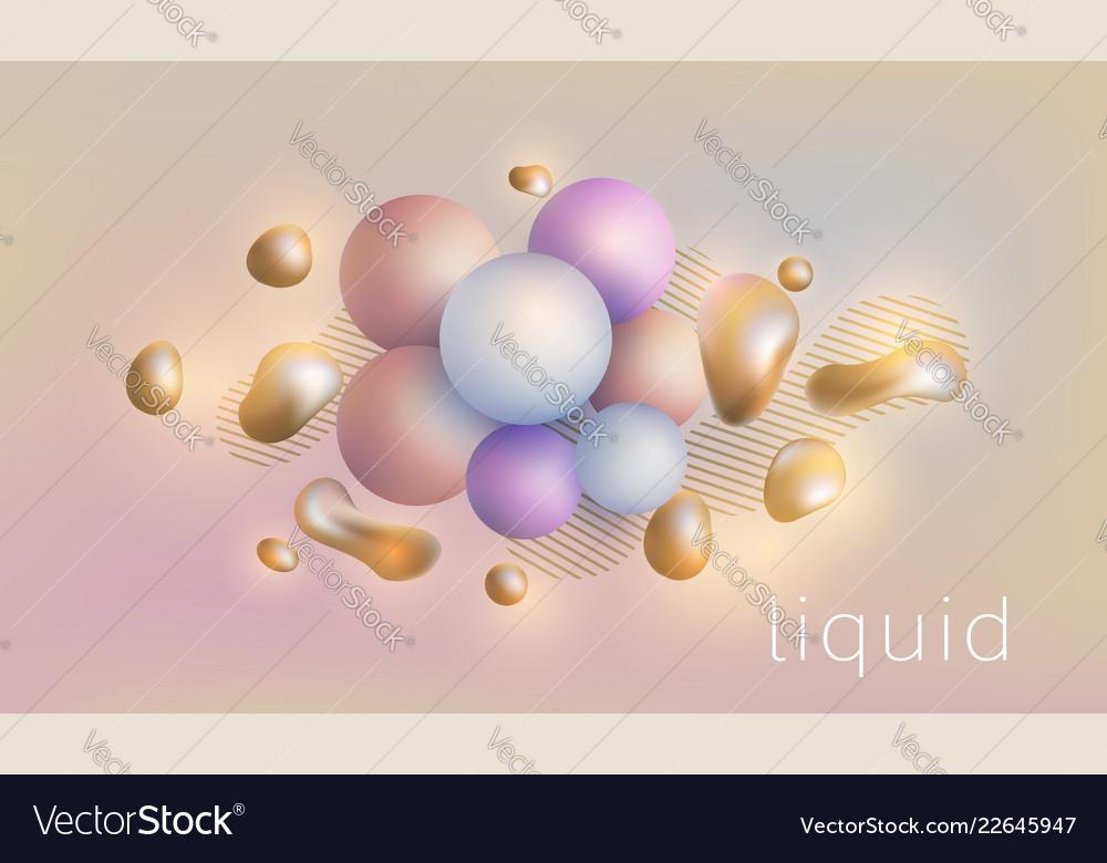 Liquid splash geometric shapes