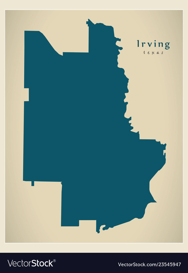 Map Of Texas City.Modern City Map Irving Texas City Of The Usa