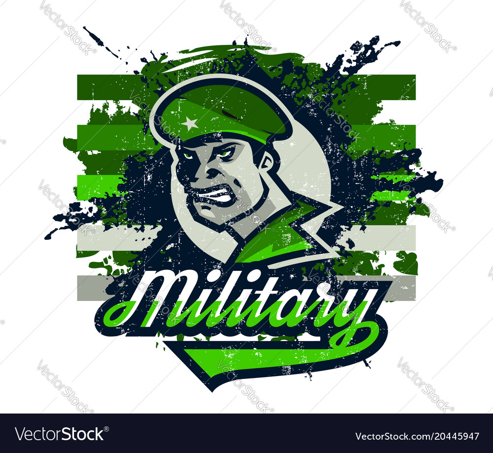 On a military theme soldier
