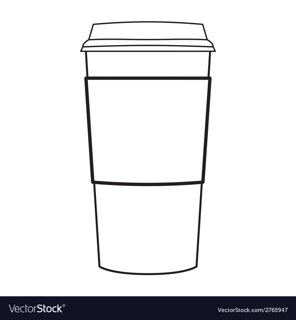 Paper coffee cup outline