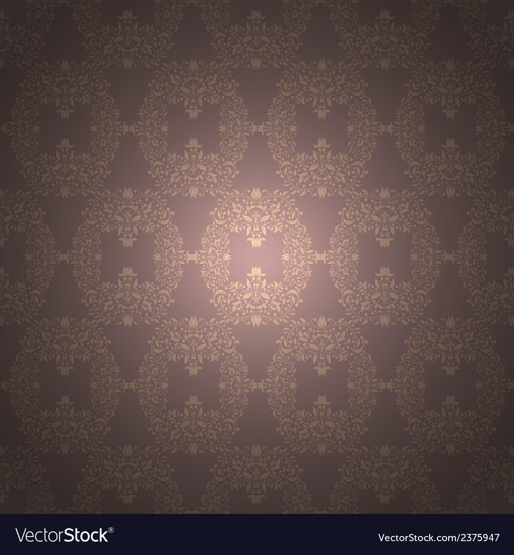 Rich floral ornament Baroque Wallpaper vector image
