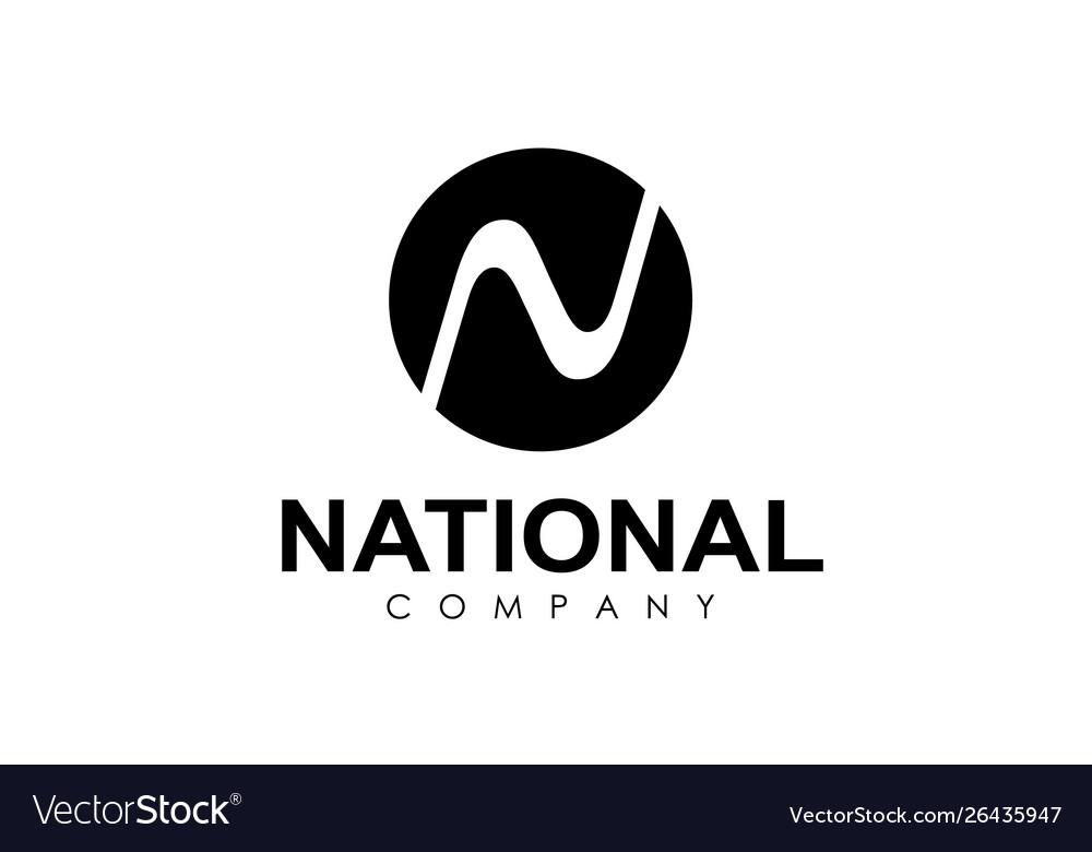 Round shape logo isolated on white background