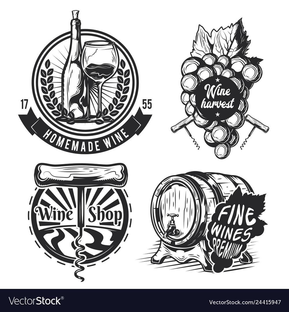 Set of winemaking elements