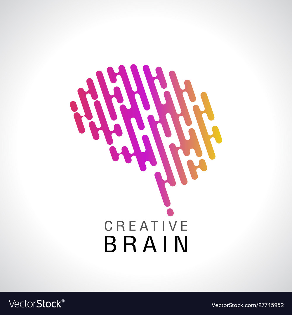 Abstract colorful brain logo