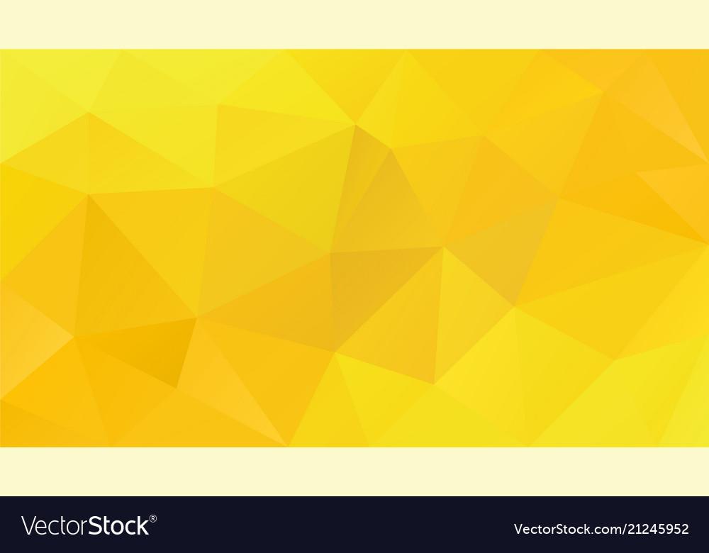 Abstract irregular polygonal background yellow