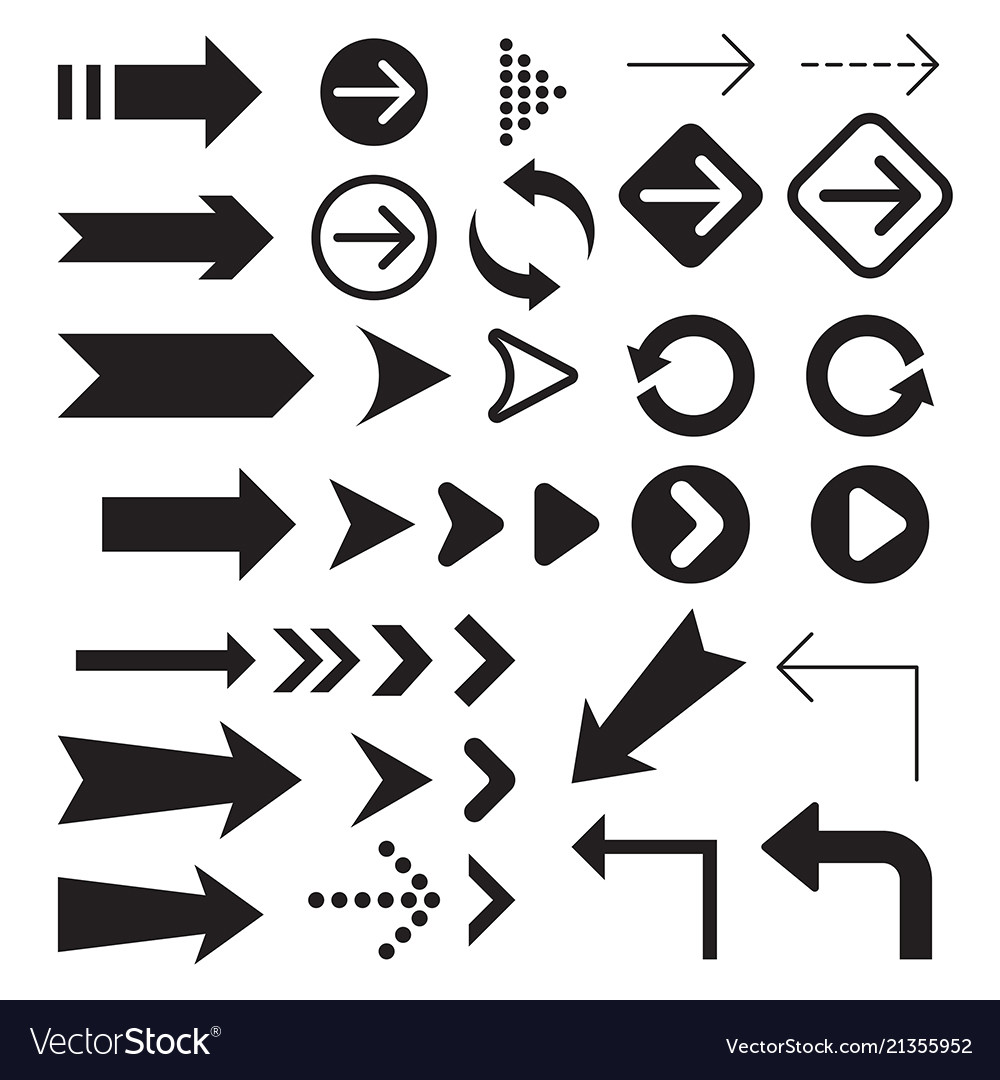 Arrow icons symbol collection
