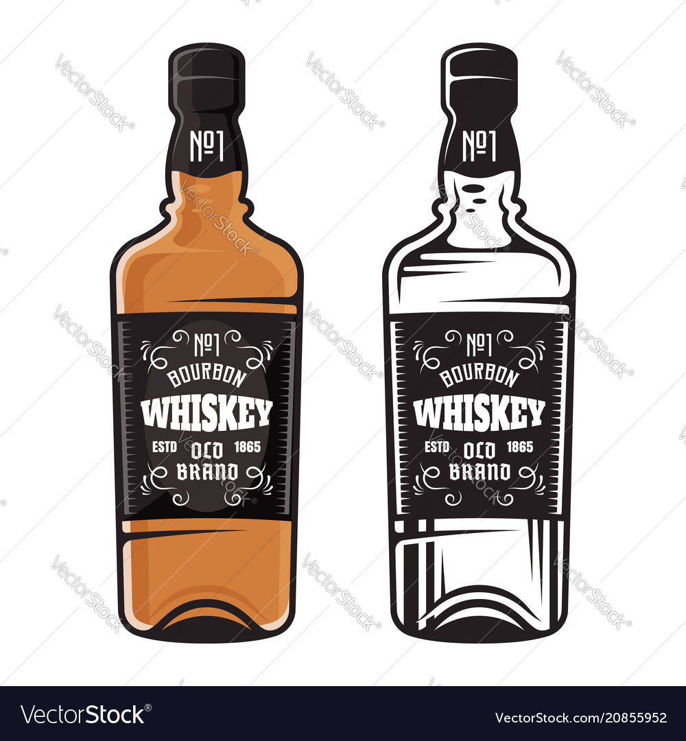 Bottle of whiskey two styles