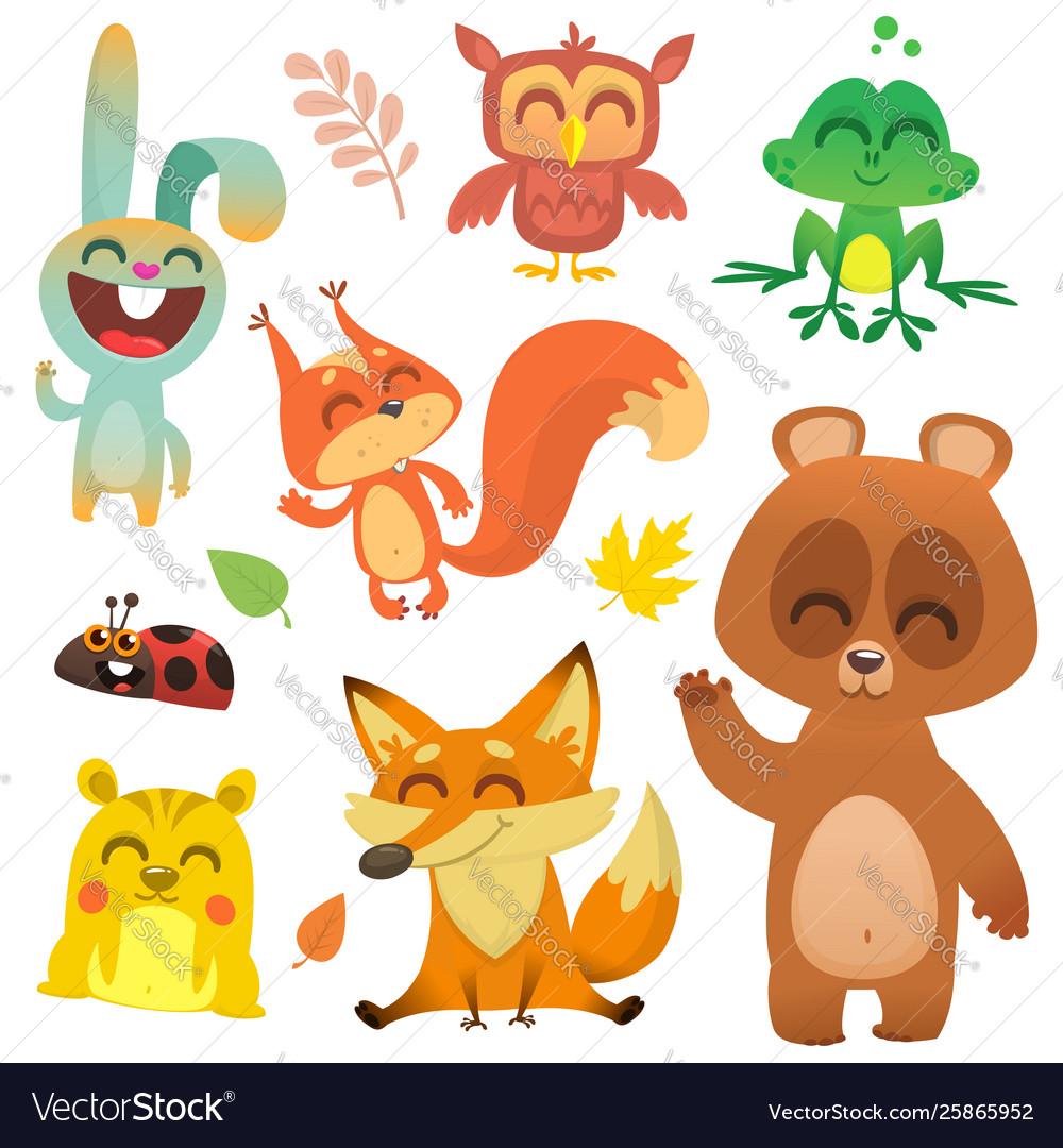 Cartoon woodland animals
