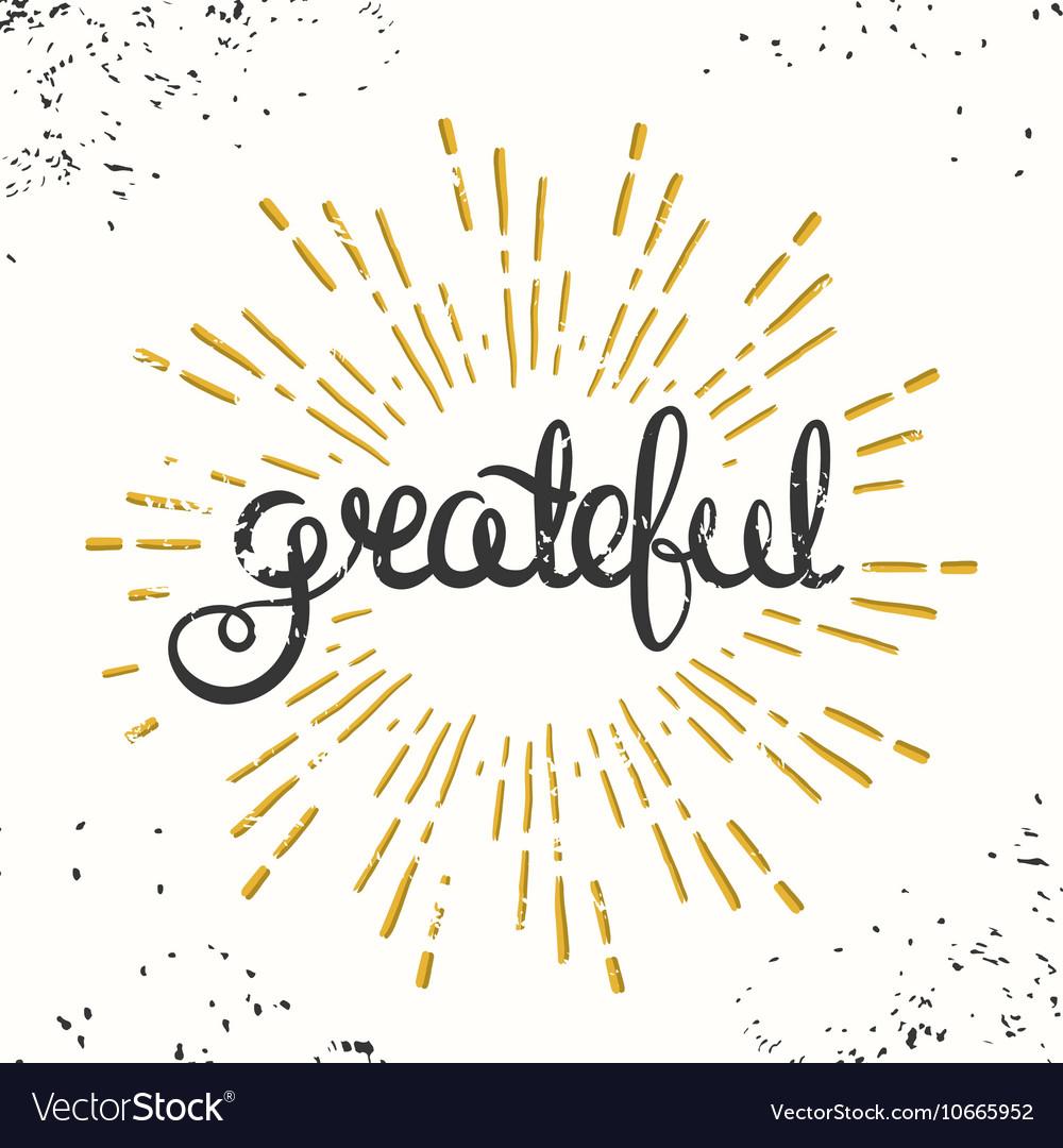 Grateful Retro Poster Design Thanksgiving Card