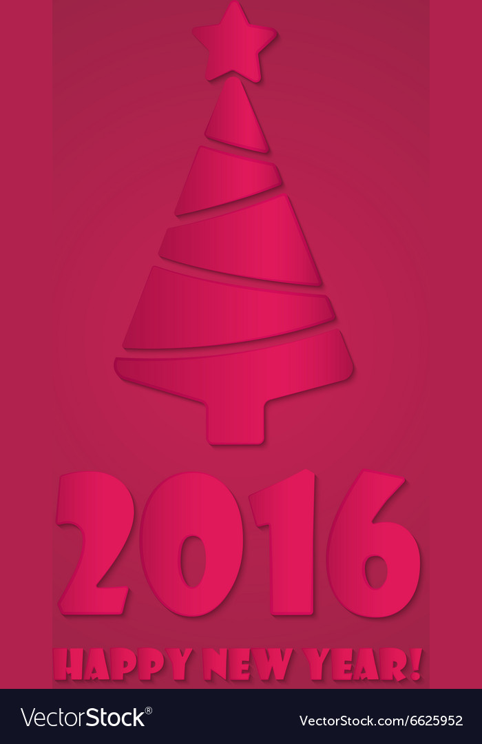Happy new year 2016 colorful flat design