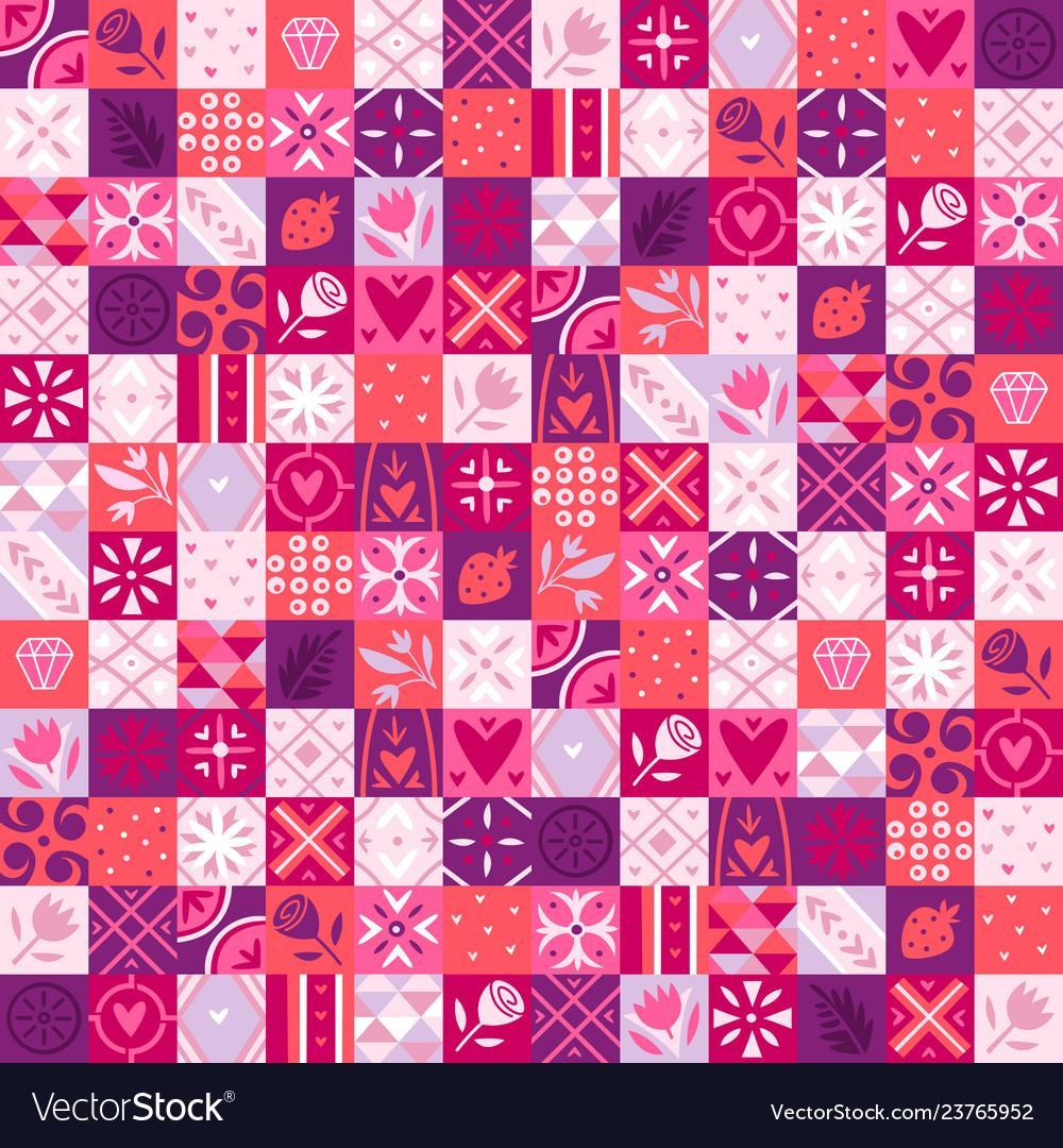 Pink valentine pattern
