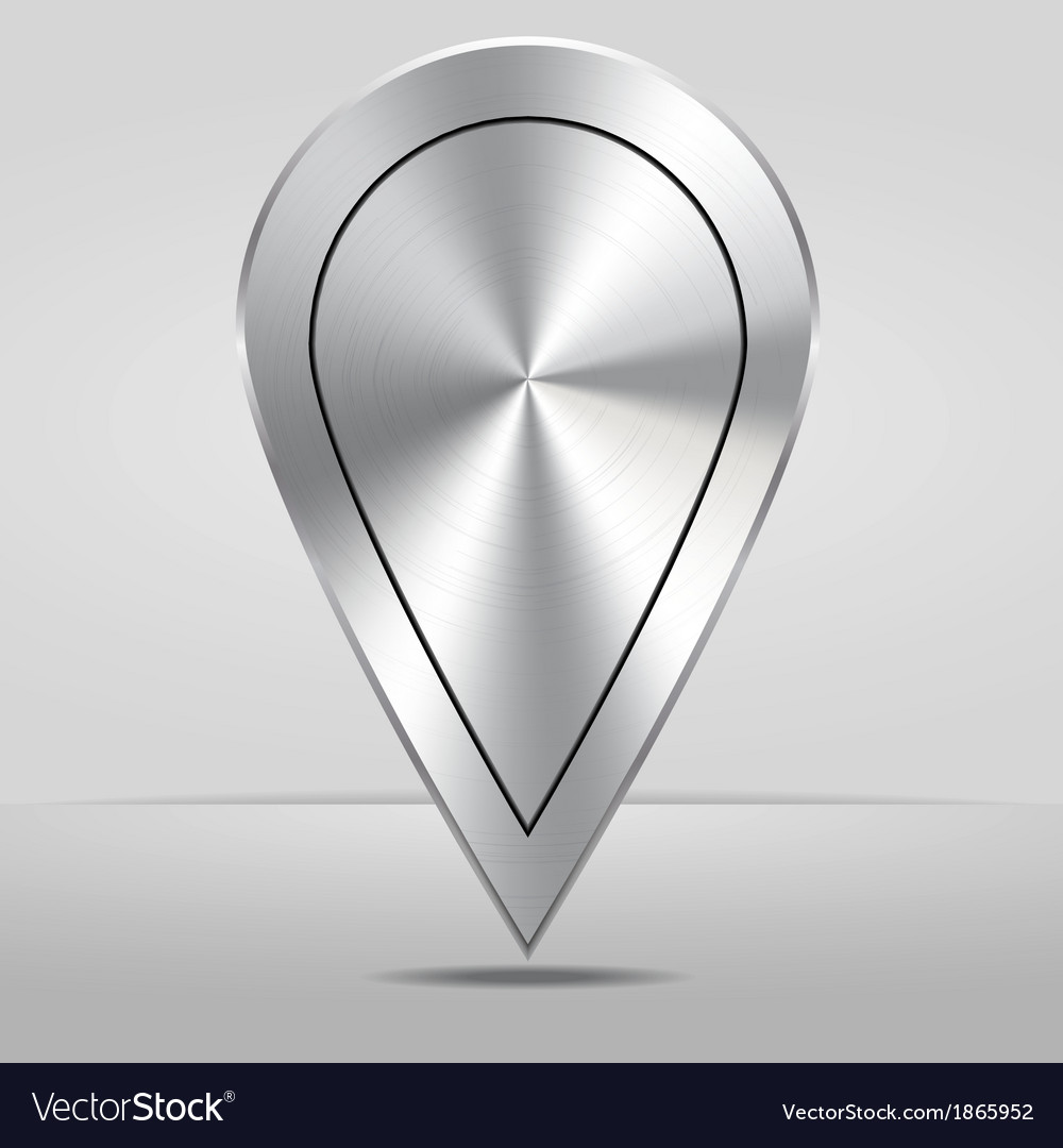 Silver Map Location Pointer Icon