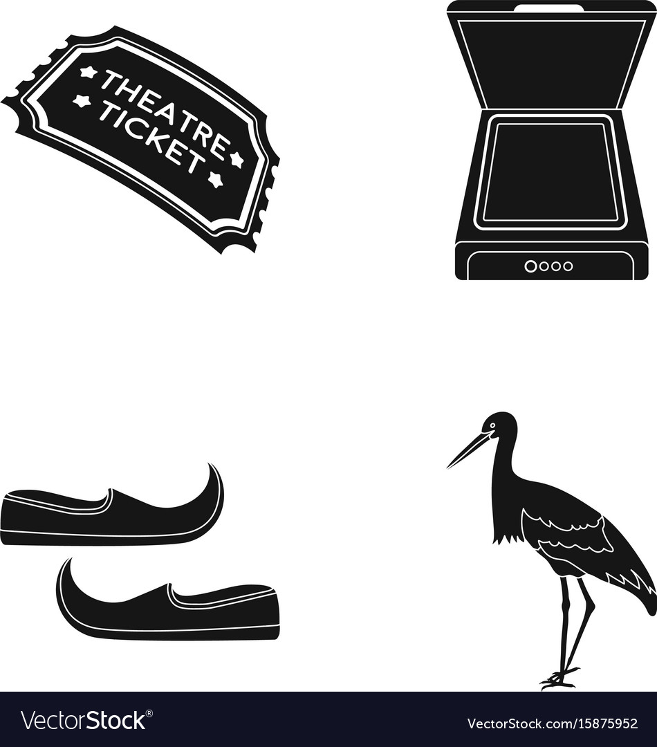 Ticket to the theater scanner and other web icon vector image