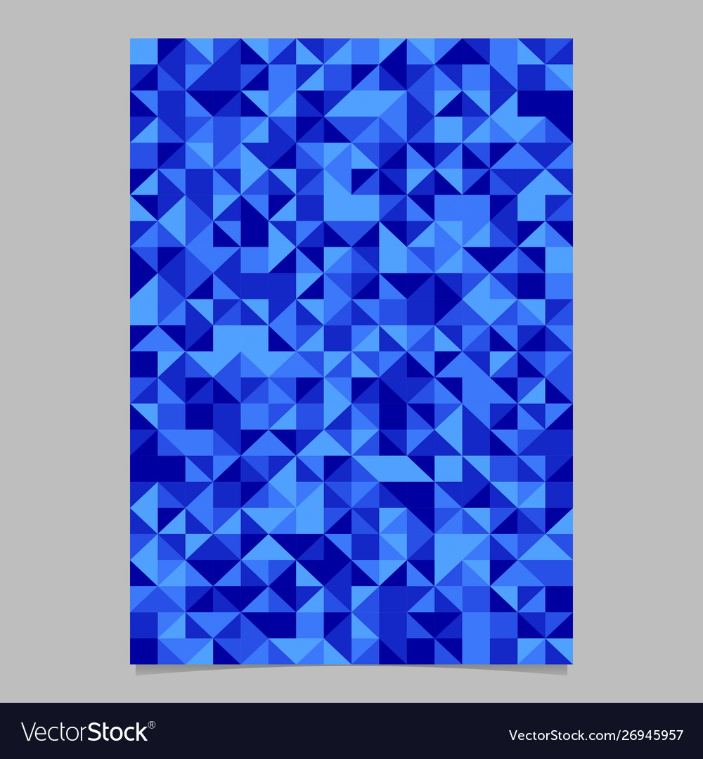 Abstract geometrical mosaic triangle brochure