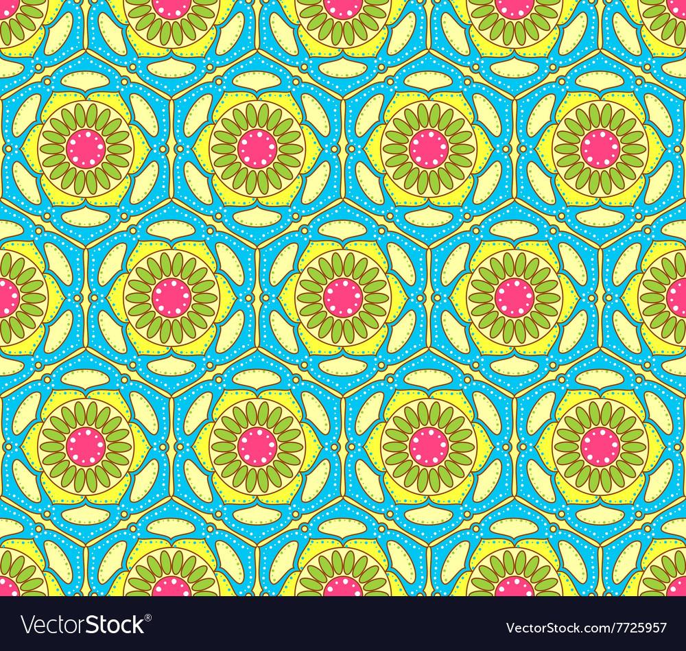 Bright seamless paisley pattern
