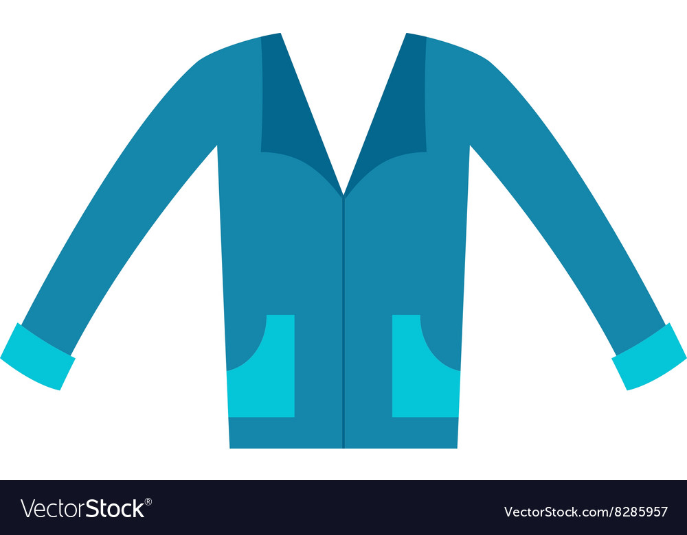 Clothing design concept man blue t-shirt front vector image