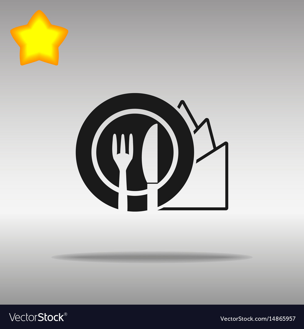 Diet black icon button logo symbol vector image