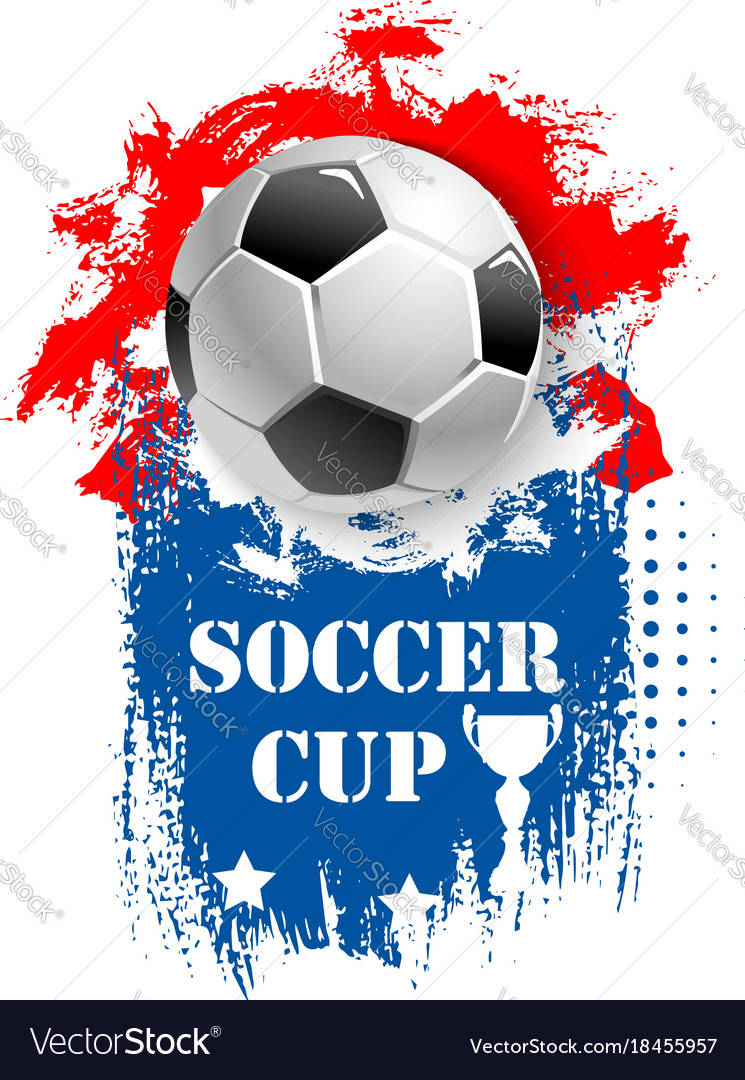 For soccer cup emblem for football club vector image