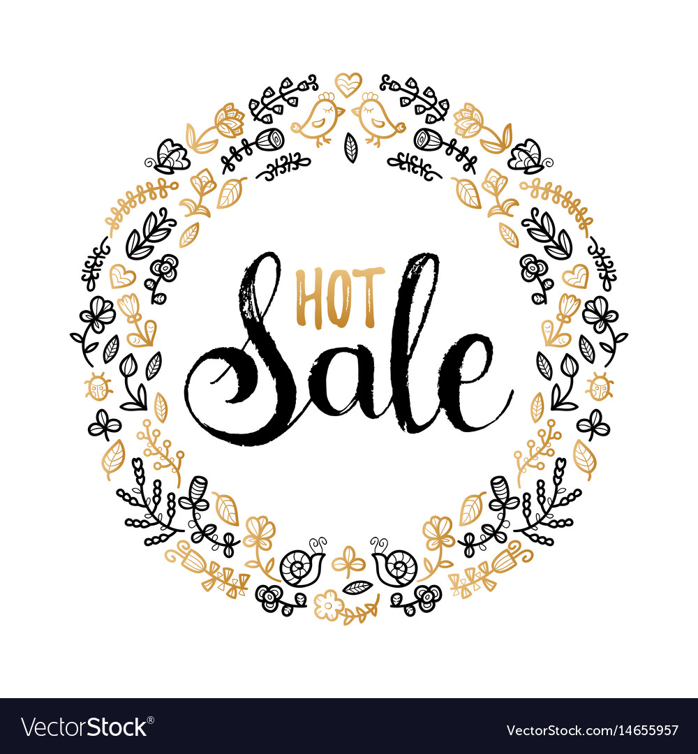 Hot sale poster hand lettering in floral