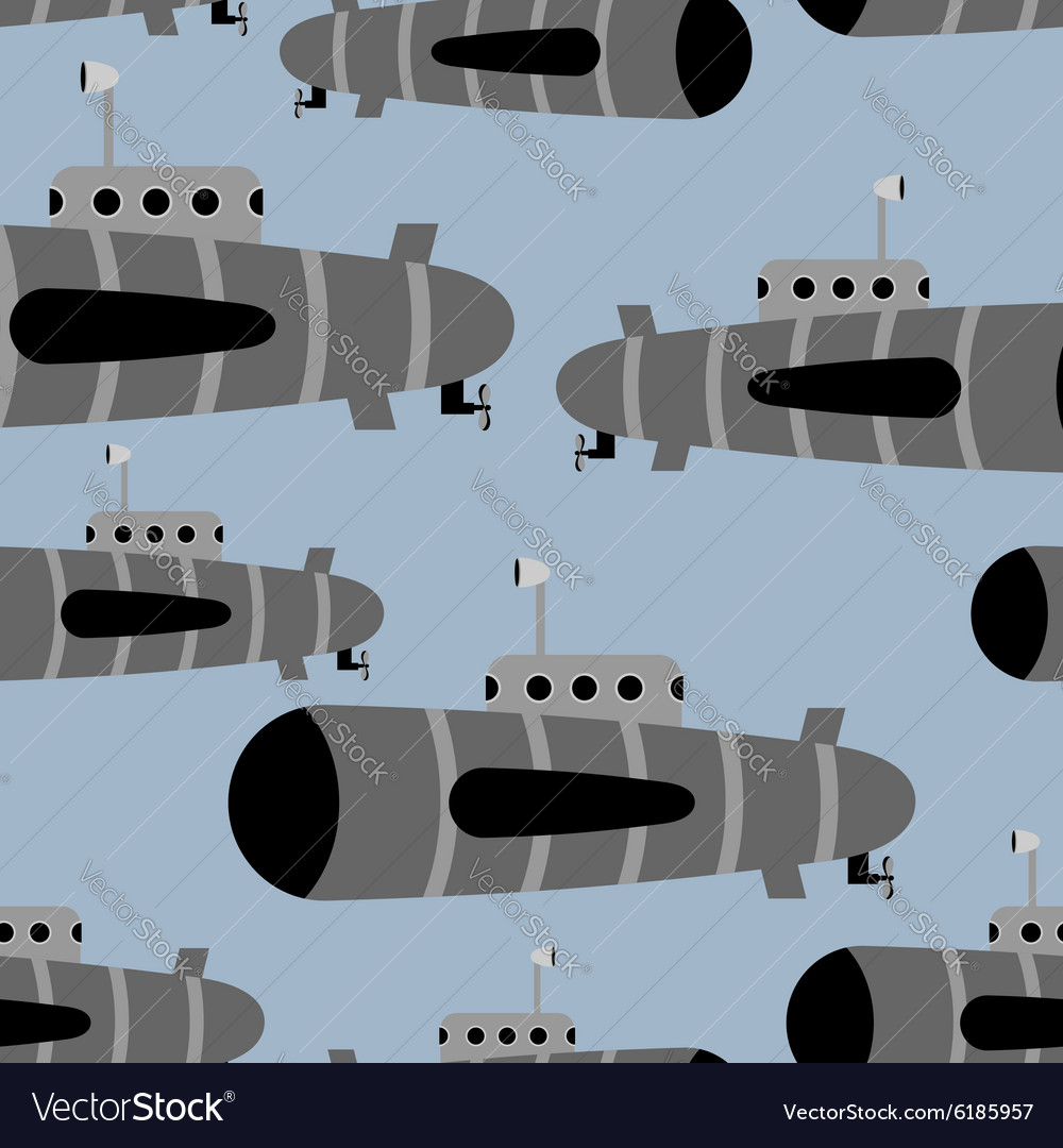 Submarine seamless pattern background of