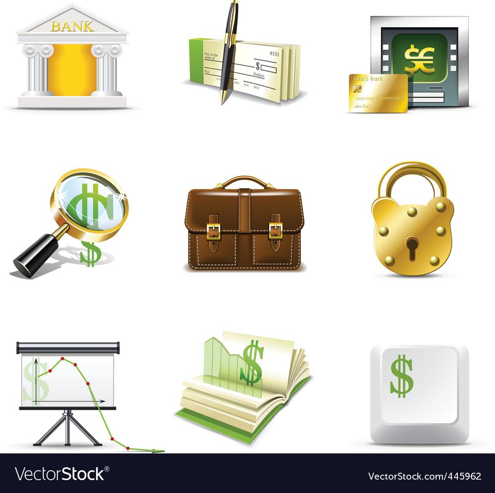 Bank icons   bella series vector image