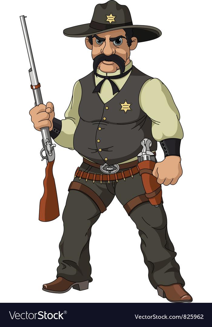 Cartoon sheriff