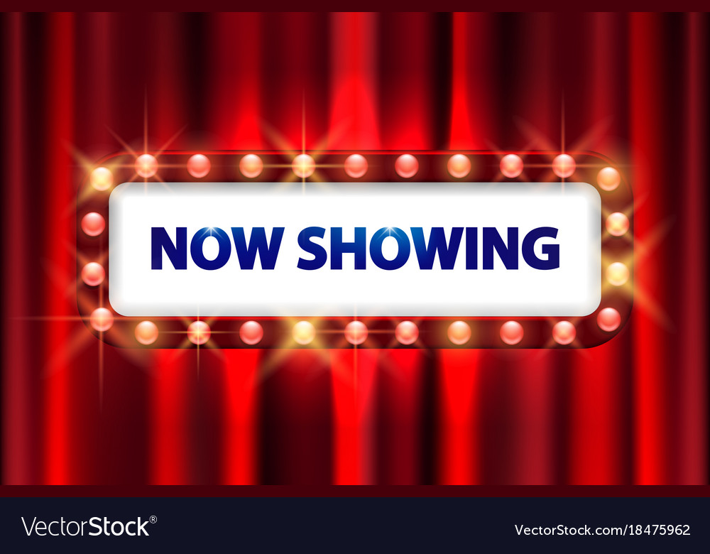 Cinema movie poster design theater sign or cinema