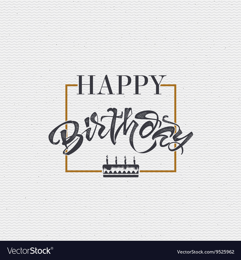 Happy birthday - card sticker can be used to