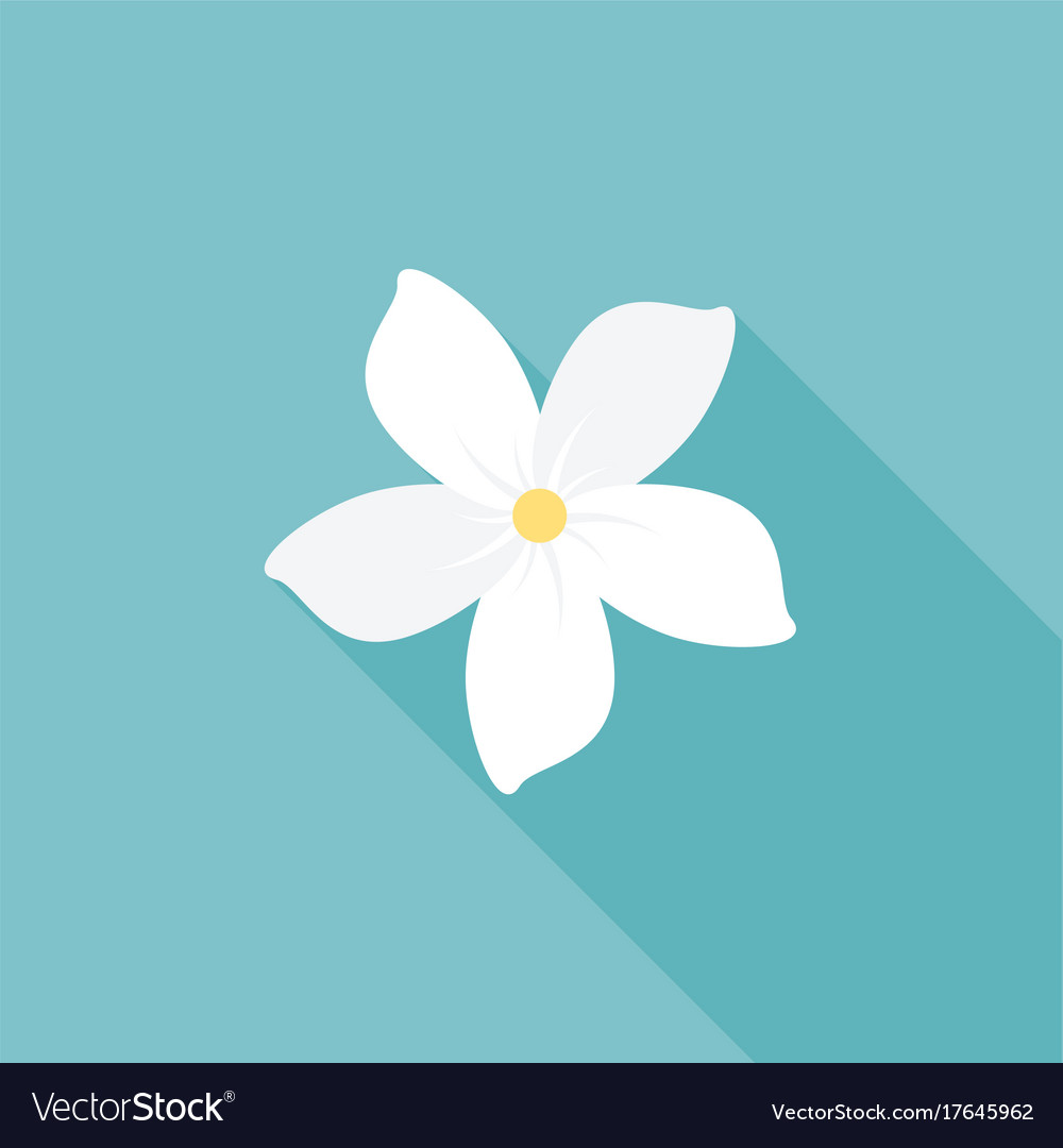 Jasmine flower icon with long shadow royalty free vector jasmine flower icon with long shadow vector image izmirmasajfo