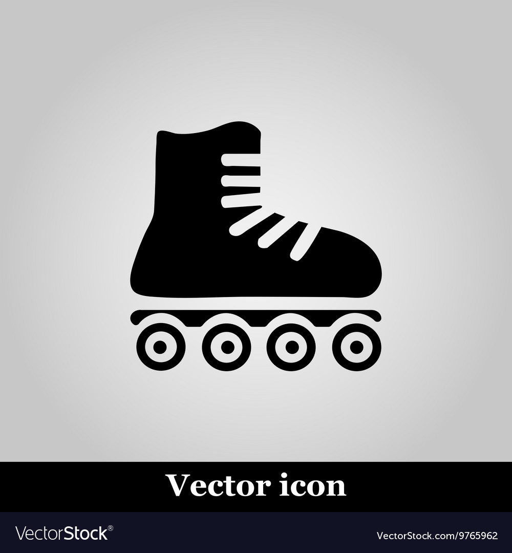 Roller skates sign icon on grey background