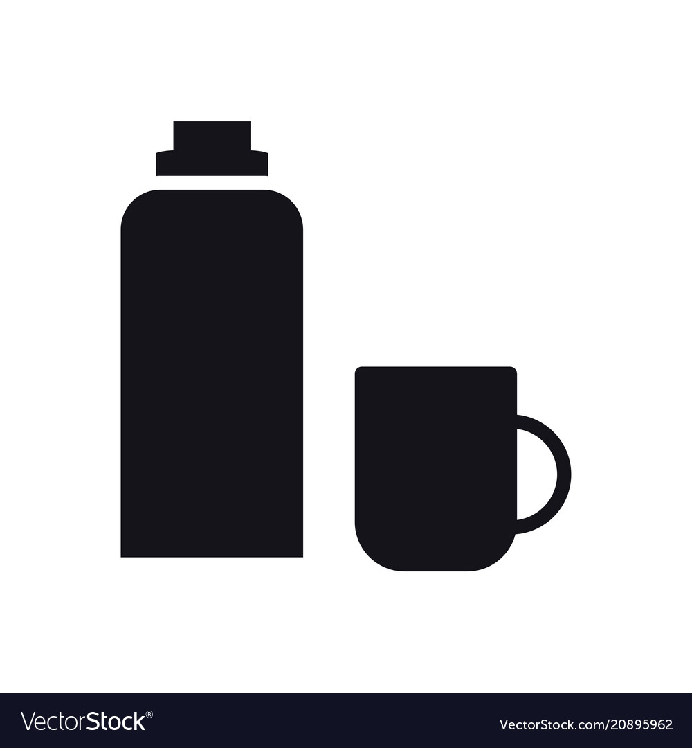Thermos bottle icon vacuum flask hot water