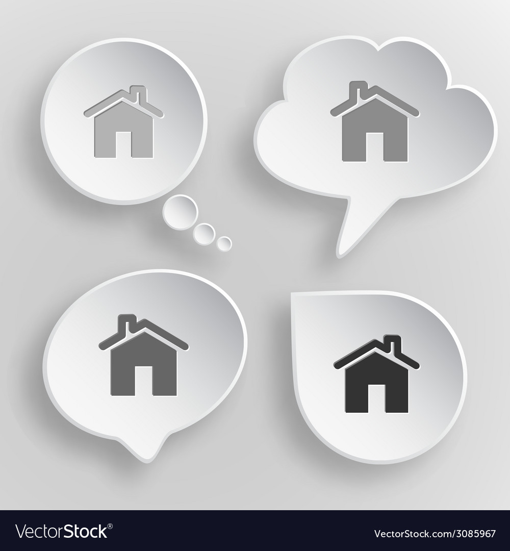 Home White flat buttons on gray background vector image