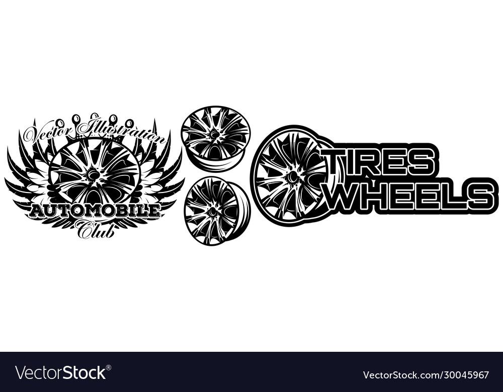 Monochrome set wheel car drive