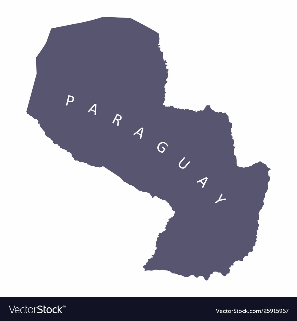 Paraguay silhouette map