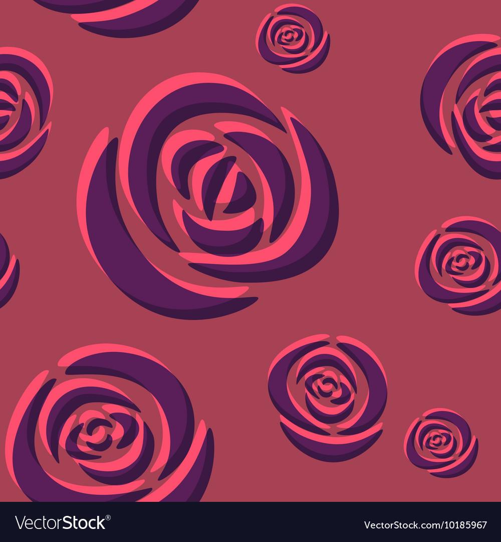 Pattern of dark purple roses