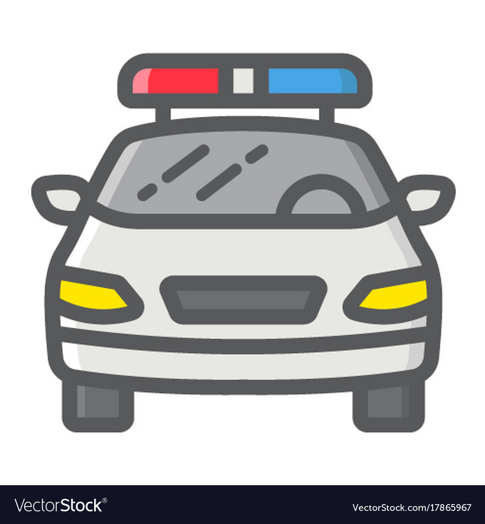 Police car filled outline icon transport and auto