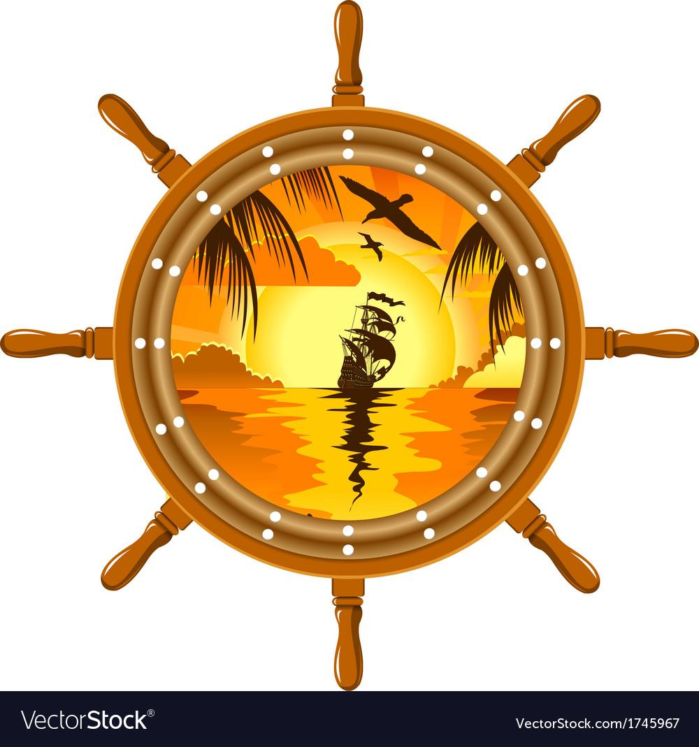 Sailboat and wheel