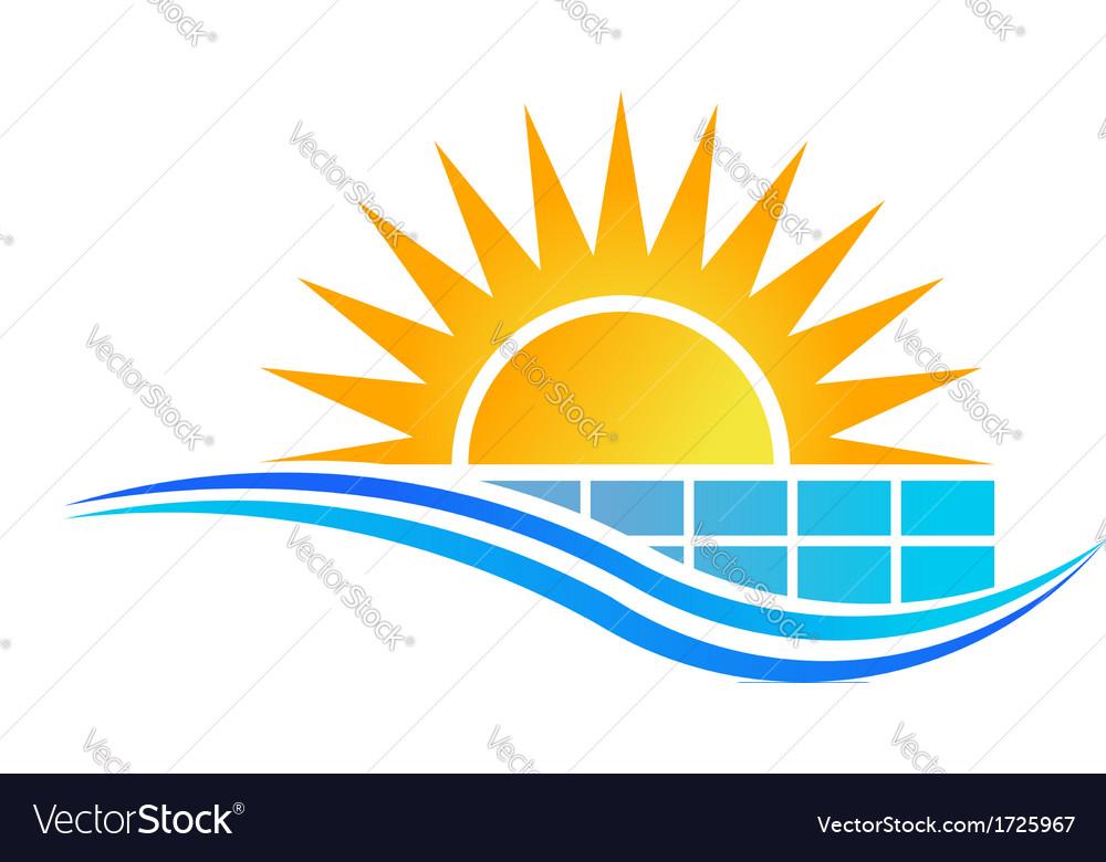 Solar Panel Logo vector image