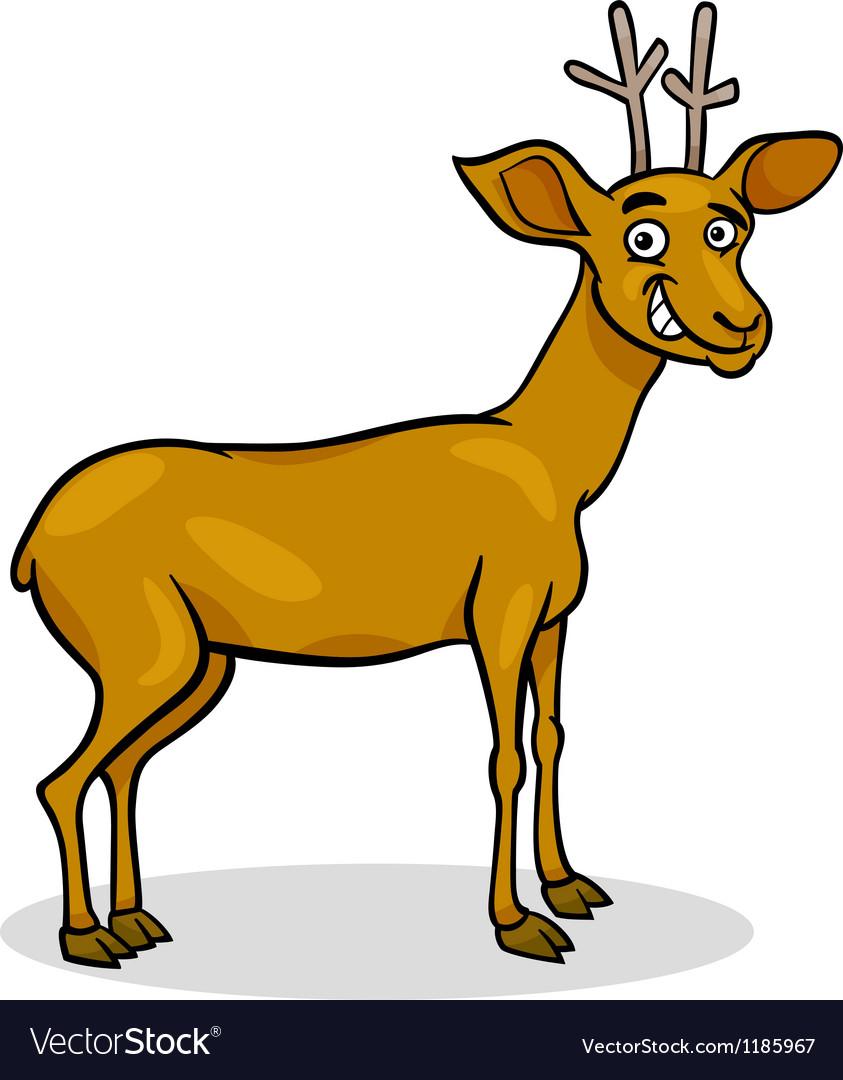 Wild deer cartoon
