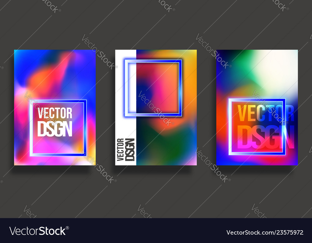 Abstract cover design colorful gradient