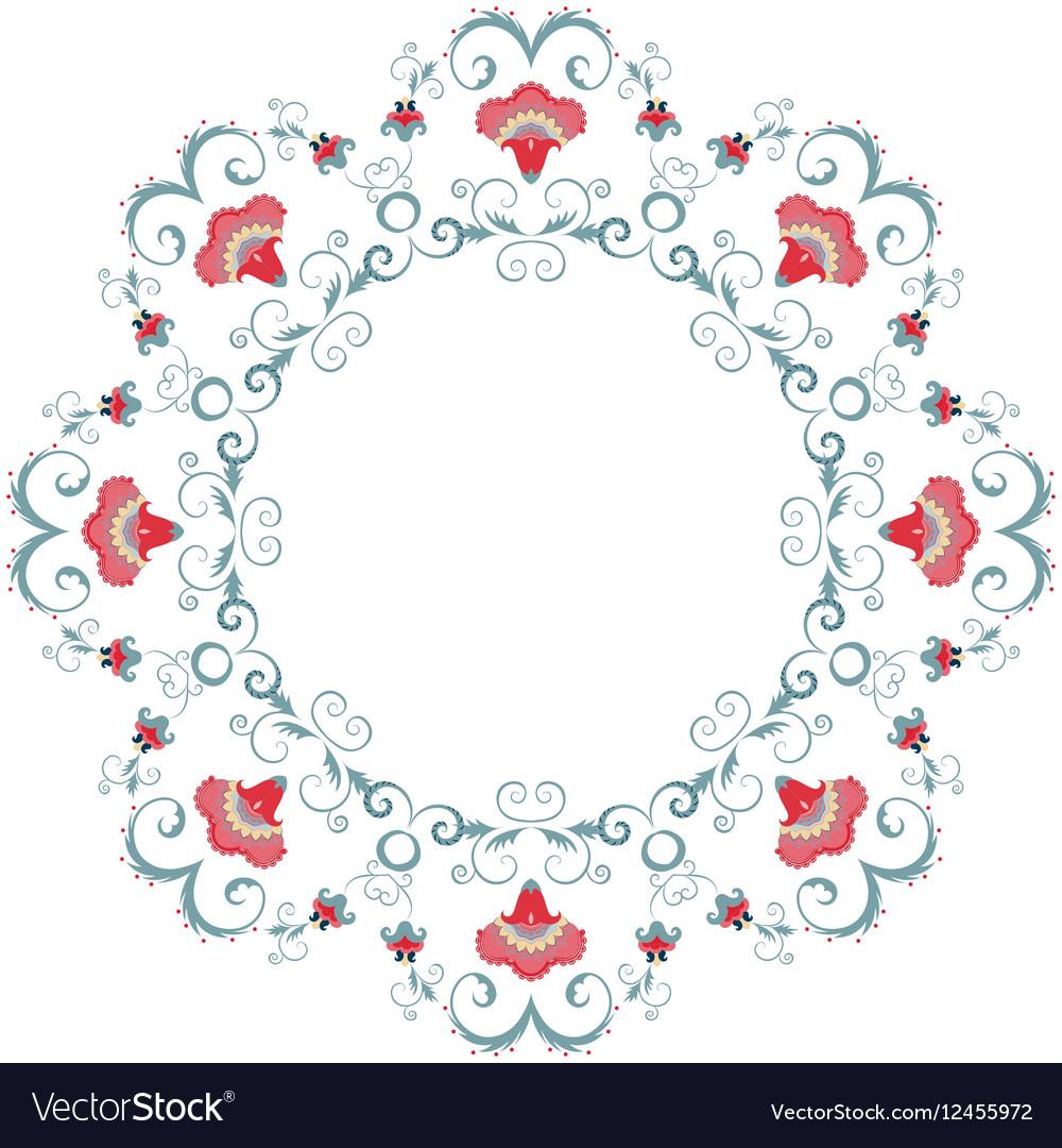 Abstract floral frame design element