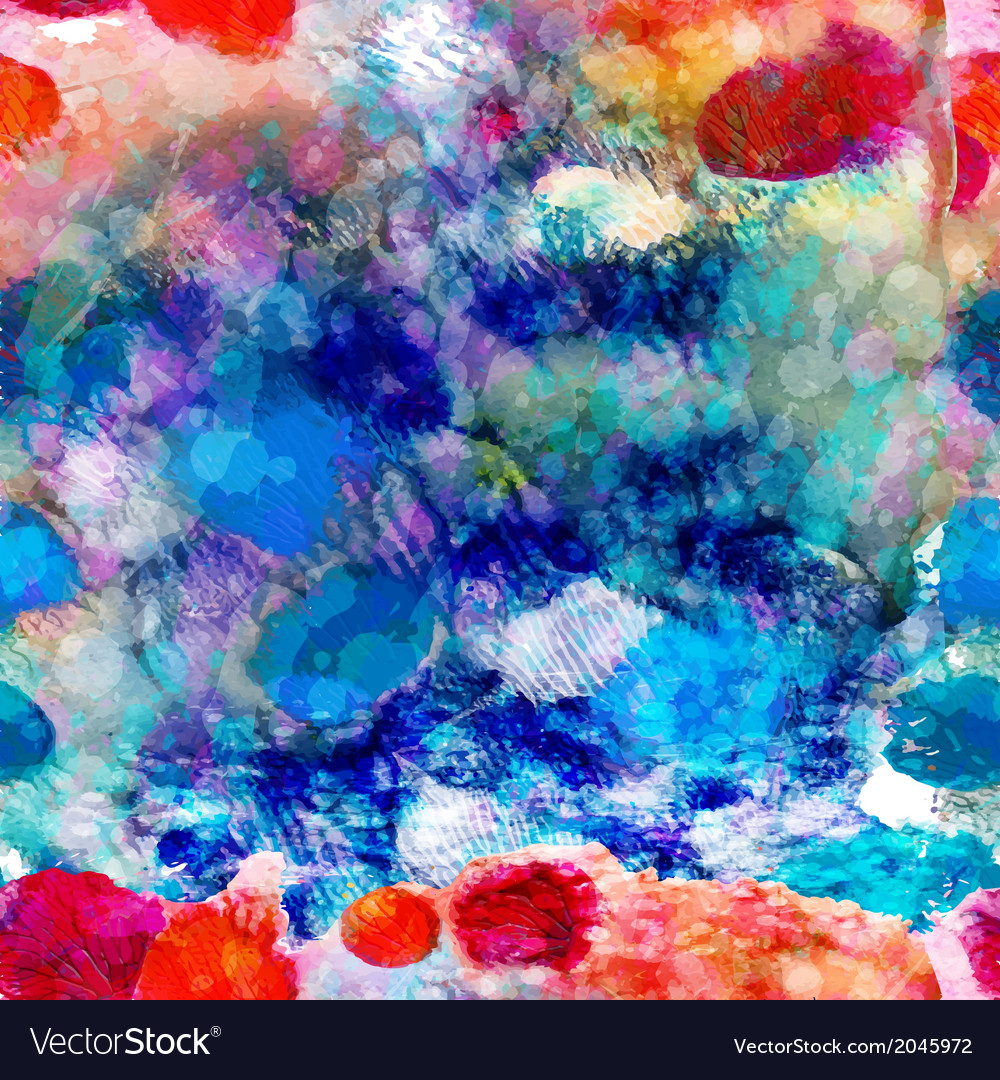 Abstract sea seamless pattern EPS 10 vector image