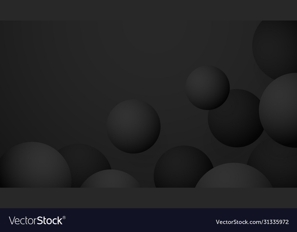 Black premium ball abstract background