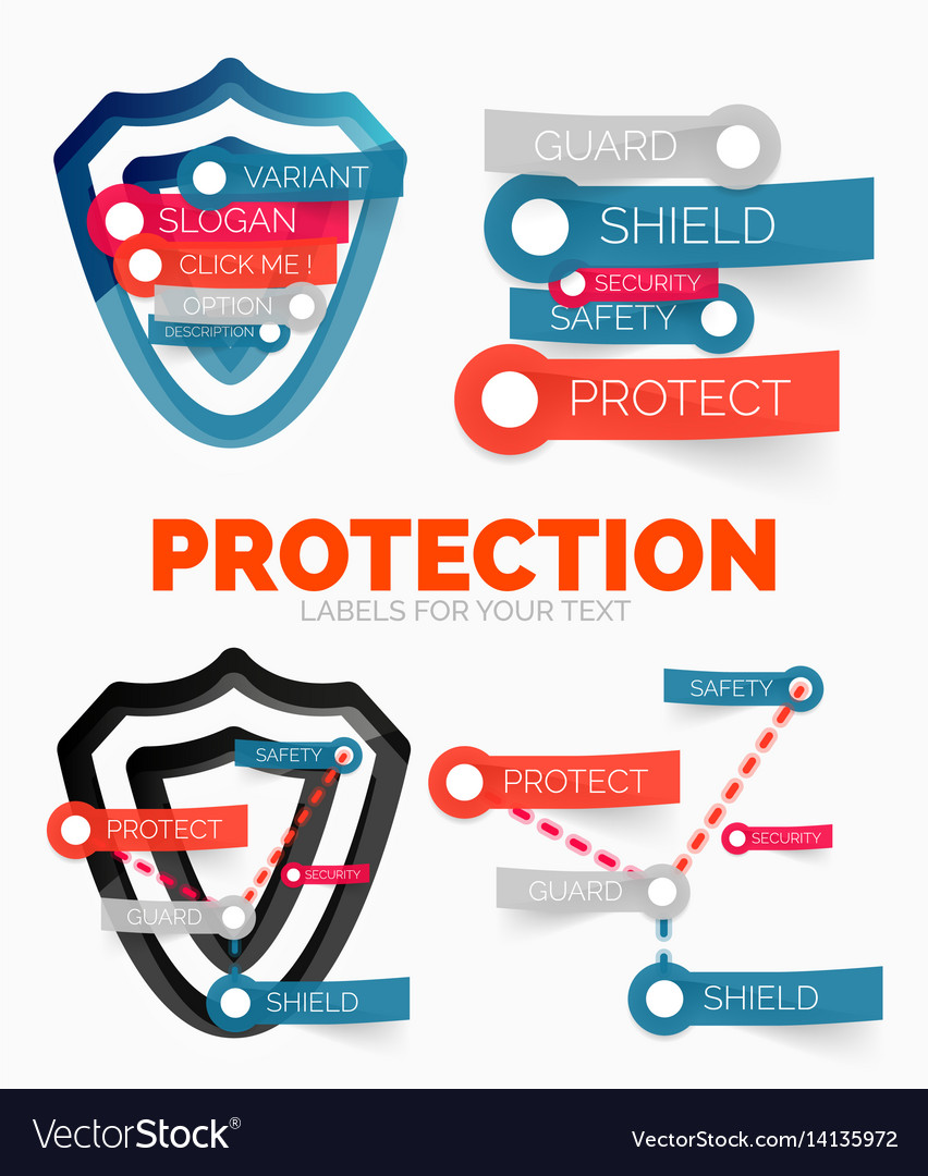 Diagram elements set of protection and