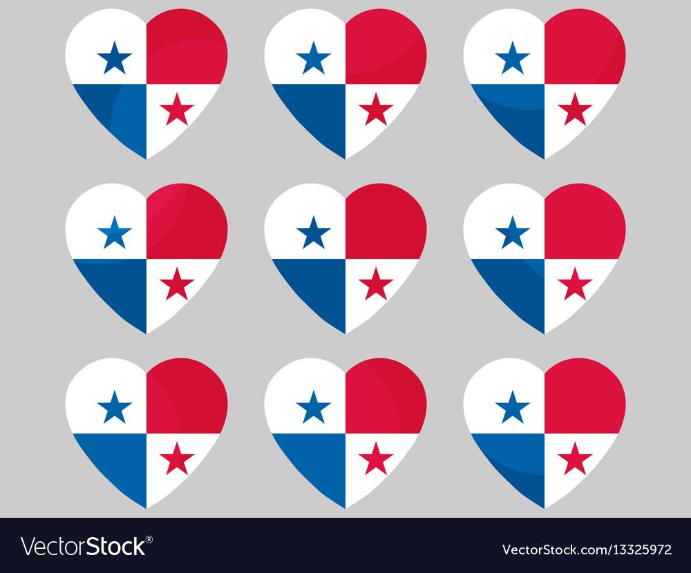 Heart with the flag of panama i love panama