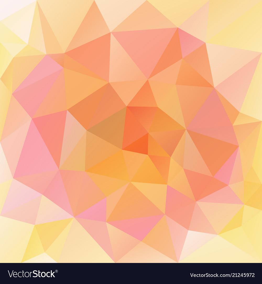 Polygonal square background cute peach orange vector image